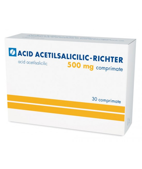 ACID ACETILSALICILIC 500 mg x 30 COMPRIMATE