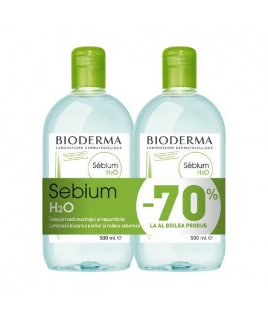 BIODERMA SEBIUM H2O 500ML 1+70%DIN AL DOILEA
