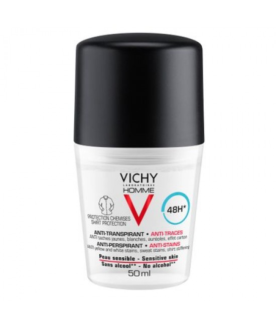 VICHY HOMME DEO ROLL ON ANTIPERSPIRANT 48 H ANTI URME 50ML
