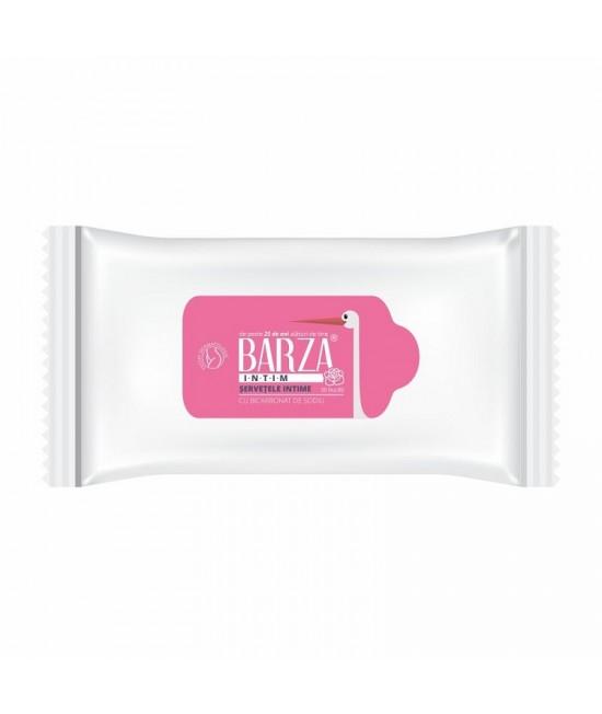 Servetele Barza intim cu bicarbonat, 20 bucati