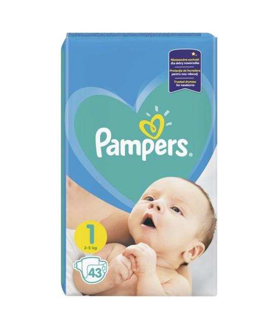 Pampers nr. 1 new baby 2-5 kg × 43 bucati