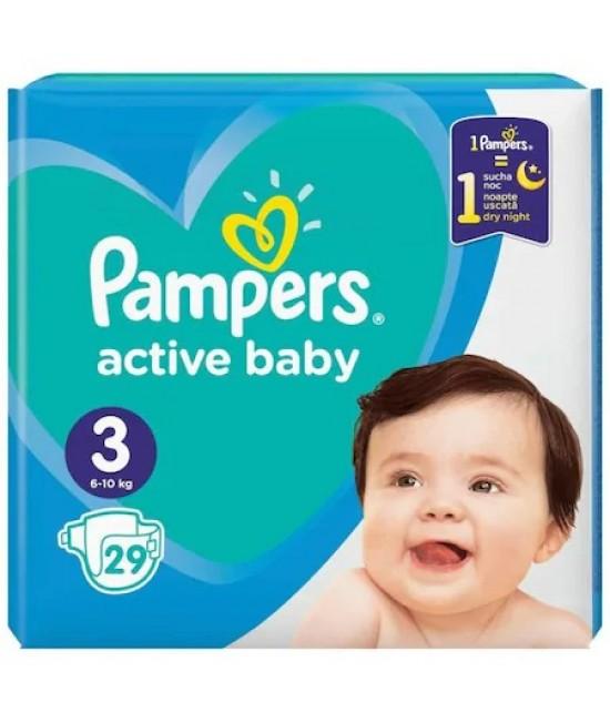 Pampers nr. 3 active baby 6-10 kg × 29 bucati