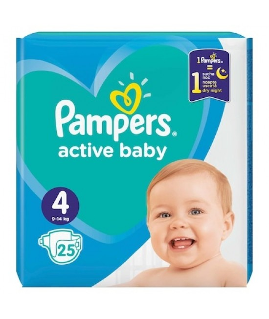 Pampers nr. 4 active baby 9-14 kg × 25 bucati