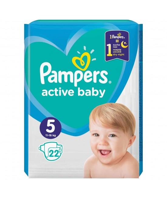 Pampers nr. 5 active baby 11-16 kg × 22 bucati
