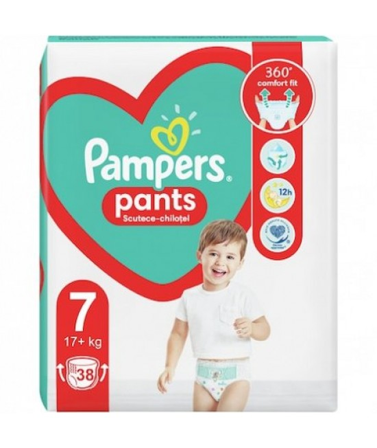 Pampers nr 7 pants chilot active baby 17 kg, 38 bucati