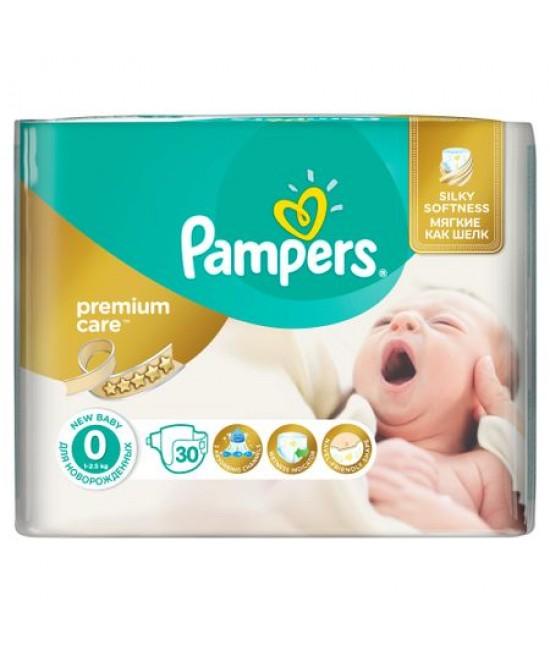 PAMPERS PREMIUM CARE NR 0 NEWBABY SP(30)<2.5 KG