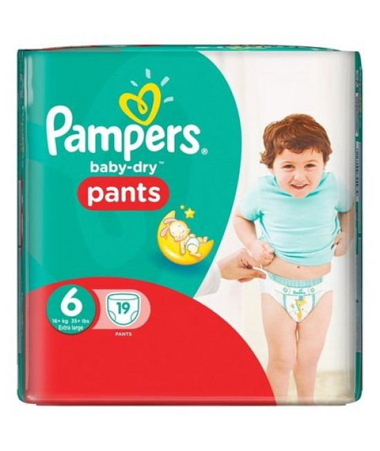 PAMPERS NR.6 PANTS (CHILOT) ACTIVE BABY 16KG+ x 19 BUCATI