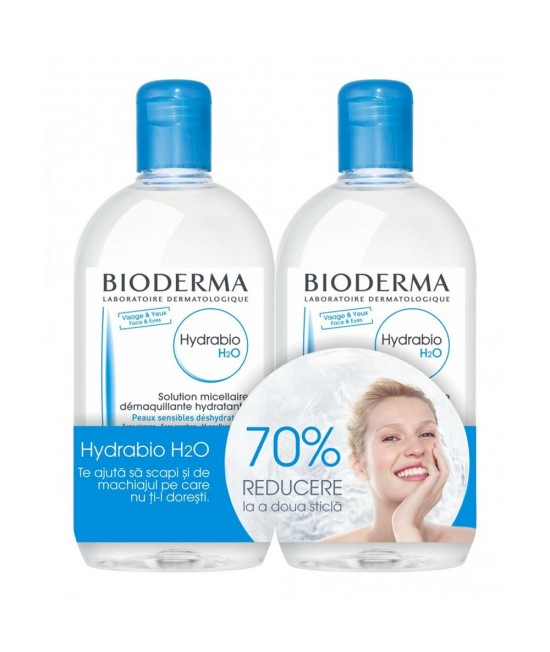 Bioderma Hydrabio H2O, 500 ml 1+70% din al doilea
