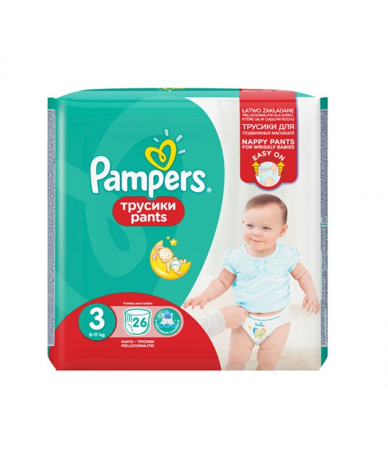 PAMPERS NR.3 PANTS (CHILOTI) ACTIVE BABY 6-11KG x 26 BUCATI