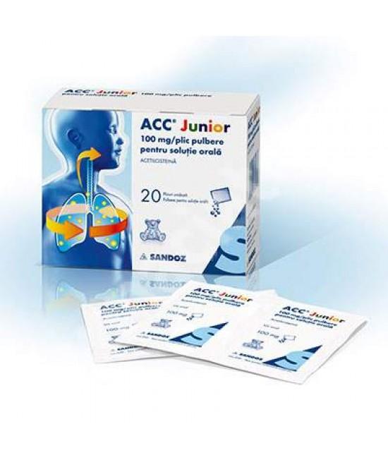 ACC Junior, 100 mg/plic pulbere pentru solutie orala