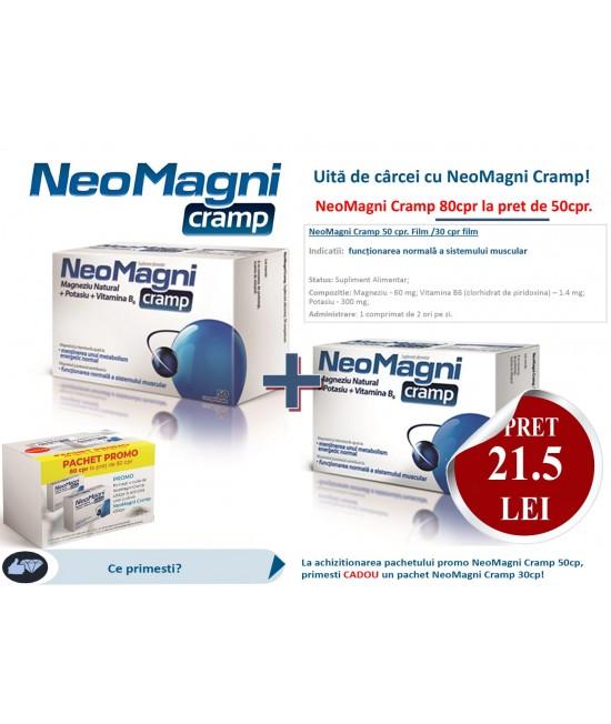 NeoMagni Cramp, 50 Comprimate + 30 Comprimate Gratuit