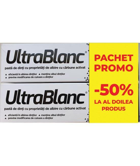 Ultrablanc Pasta De Dinti, 75ml 1+50% Reducere din al doilea