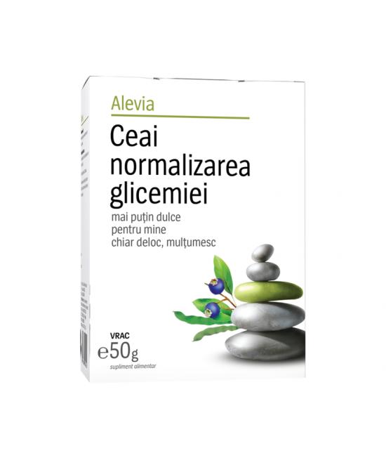 Alevia Ceai normalizarea glicemiei, 50 g