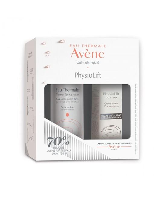 AVENE PHYSIOLIFT CREMA 30ML+70% REDUCERE LA APA TERMALA 150ML