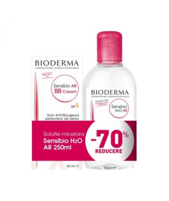 BIODERMA SENSIBIO AR BB CREMA 40ML + SENSIBIO H2O AR LOT MICELARA 250ML 70% CADOU