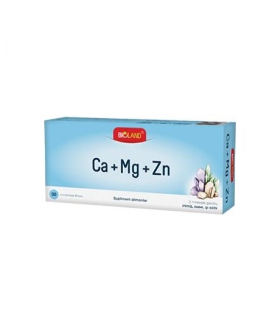 BIOLAND CALCIU+MAGNEZIU+ZINC, 30 COMPRIMATE